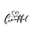 calligraphy lettering text beautiful logo modern vector image