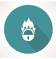 castle and locking icon vector image vector image