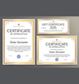 certificate template gift voucher for your vector image