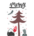 christmas holiday card vector image vector image