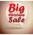 Christmas sale vintage design template vector image