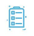 clipboard icon design vector image
