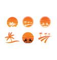 collection summer logo icon template vector image