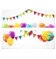 Color Glossy Balloons Card Set Background vector image