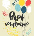 colorful happy birthday card template - italian vector image vector image