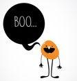 cute monster with speech bubble vector image vector image