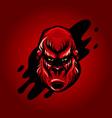 dangerous angry king kong head design vector image vector image