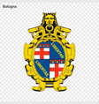 emblem of bologna city of italy vector image vector image