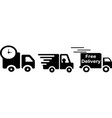 fast shipping delivery truck on white background vector image vector image