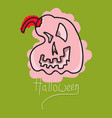 flat icon halloween emotion pumpkin vector image vector image