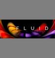 fluid color motion concept vector image