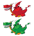 flying dragon big vector image vector image