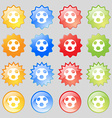 Football icon sign Big set of 16 colorful modern vector image vector image