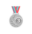 gold medal golden 1st place badge sport vector image vector image