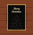 golden greeting card with fir tree from sparks vector image