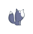 Gray Wolf Cartoon Character vector image vector image