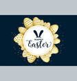 happy easter celebration background with eggs vector image