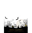 happy halloween seamless creepy cemetery vector image