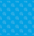 honeycomb pattern seamless blue vector image