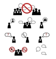 Human management icons set vector image vector image