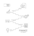 Infographic finance concept vector image vector image
