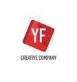 initial letter yf logo template design vector image vector image