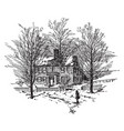 john sullivans house vintage vector image vector image