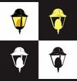 lantern vintage logo shinning lamp vector image vector image