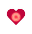 love target logo icon design glitch neon effect vector image