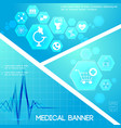 medical care blue digital composition vector image