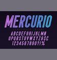 mercurio inline font typeface alphabet condensed vector image vector image