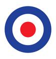 mod target raf roundel royal air force badge sign vector image