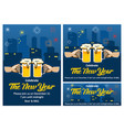 new year beer party invitation vector image vector image
