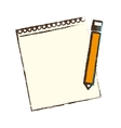 Notepad and pencil icon image vector image