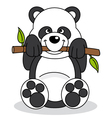 panda eating bamboo vector image