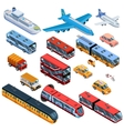 Passenger Transport Isometric Icons vector image