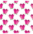pink bell flower seamless pattern on white