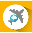 plane travel weather forecast lightning cloud vector image vector image