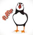 puffin bird 2 vector image vector image