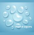 realistic water drop pure transparent droplet vector image