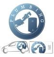repair and service plumbing boiler symbol vector image vector image