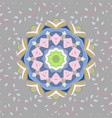 seamless floral pattern in flowers on gray vector image