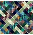 seamlesspatchwork pattern vector image