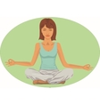 Serene woman in meditation position vector image vector image