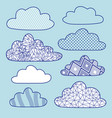 set isolated clouds vector image