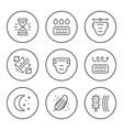 set round line icons diaper vector image