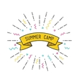 summer camp poster in flat design vector image vector image