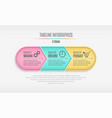 three steps infographic timeline presentation vector image vector image