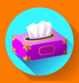 tissue box flat icon vector image vector image