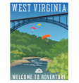 travel poster or sticker west virginia vector image vector image